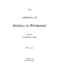 The American Journal of Psychology : 189... Volume Vol. 3 by W, Robert