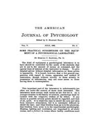 The American Journal of Psychology : 189... Volume Vol. 5 by W, Robert