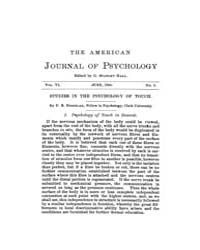 The American Journal of Psychology : 189... Volume Vol. 6 by W, Robert