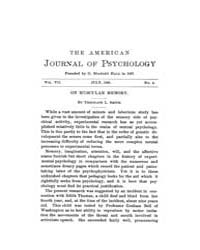 The American Journal of Psychology : 189... Volume Vol. 7 by W, Robert