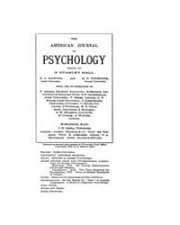 The American Journal of Psychology : 189... Volume Vol. 10 by W, Robert