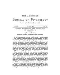 The American Journal of Psychology : 190... Volume Vol. 11 by W, Robert