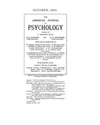 The American Journal of Psychology : 190... Volume Vol. 15 by W, Robert