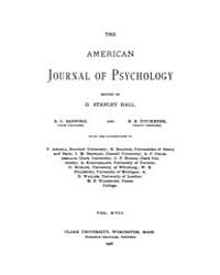 The American Journal of Psychology : 190... Volume Vol. 17 by W, Robert