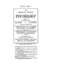 The American Journal of Psychology : 190... Volume Vol. 18 by W, Robert