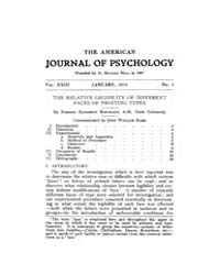 The American Journal of Psychology : 191... Volume Vol. 23 by W, Robert