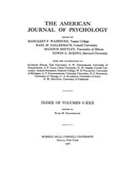 The American Journal of Psychology : 191... by W, Robert