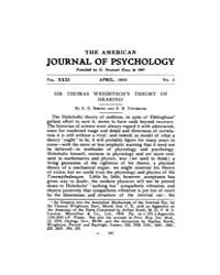 The American Journal of Psychology : 192... Volume Vol. 31 by W, Robert