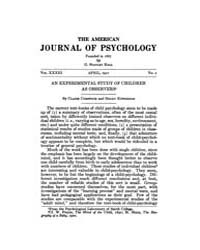 The American Journal of Psychology : 192... Volume Vol. 33 by W, Robert