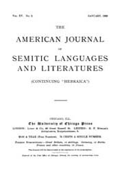 The American Journal of Semitic Language... Volume Vol. 15 by Rainey, William