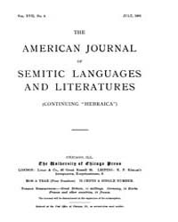 The American Journal of Semitic Language... Volume Vol. 17 by Rainey, William