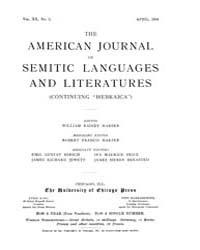 The American Journal of Semitic Language... Volume Vol. 20 by Rainey, William