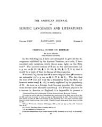 The American Journal of Semitic Language... Volume Vol. 24 by Rainey, William