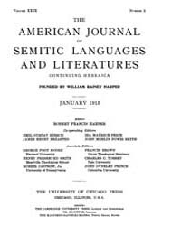 The American Journal of Semitic Language... Volume Vol. 29 by Rainey, William