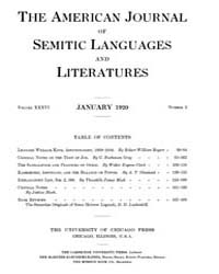 The American Journal of Semitic Language... Volume Vol. 36 by Rainey, William