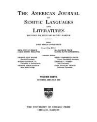 The American Journal of Semitic Language... Volume Vol. 37 by Rainey, William