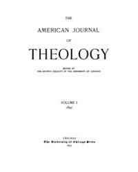 The American Journal of Theology : 1897 ... Volume Vol. 1 by Raposa, Michael, L.