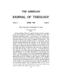 The American Journal of Theology : 1898 ... Volume Vol. 2 by Raposa, Michael, L.