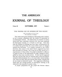 The American Journal of Theology : 1899 ... Volume Vol. 3 by Raposa, Michael, L.