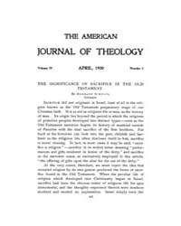 The American Journal of Theology : 1900 ... Volume Vol. 4 by Raposa, Michael, L.