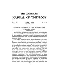 The American Journal of Theology : 1903 ... Volume Vol. 7 by Raposa, Michael, L.