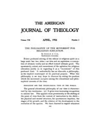 The American Journal of Theology : 1904 ... Volume Vol. 8 by Raposa, Michael, L.