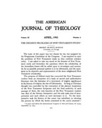 The American Journal of Theology : 1905 ... Volume Vol. 9 by Raposa, Michael, L.