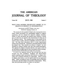 The American Journal of Theology : 1908 ... Volume Vol. 12 by Raposa, Michael, L.