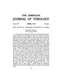 The American Journal of Theology : 1910 ... Volume Vol. 14 by Raposa, Michael, L.