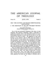 The American Journal of Theology : 1911 ... Volume Vol. 15 by Raposa, Michael, L.