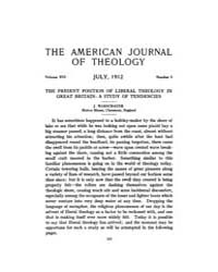 The American Journal of Theology : 1912 ... Volume Vol. 16 by Raposa, Michael, L.