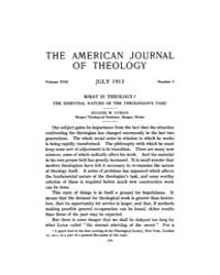 The American Journal of Theology : 1913 ... Volume Vol. 17 by Raposa, Michael, L.