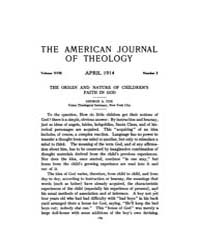 The American Journal of Theology : 1914 ... Volume Vol. 18 by Raposa, Michael, L.