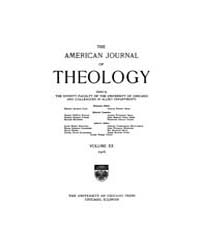 The American Journal of Theology : 1916 ... Volume Vol. 20 by Raposa, Michael, L.