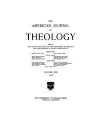 The American Journal of Theology : 1918 ... Volume Vol. 22 by Raposa, Michael, L.
