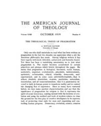 The American Journal of Theology : 1919 ... Volume Vol. 23 by Raposa, Michael, L.