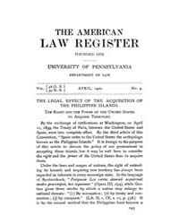 The American Law Register (1898-1907) : ... Volume Vol. 48 by