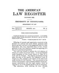 The American Law Register (1898-1907) : ... Volume Vol. 49 by