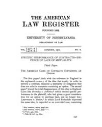 The American Law Register (1898-1907) : ... by