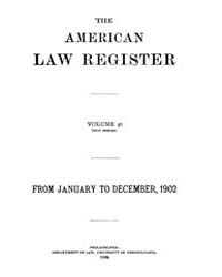 The American Law Register (1898-1907) : ... Volume Vol. 50 by