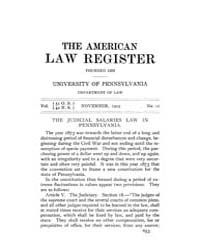 The American Law Register (1898-1907) : ... Volume Vol. 51 by