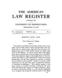 The American Law Register (1898-1907) : ... Volume Vol. 52 by