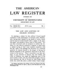 The American Law Register (1898-1907) : ... Volume Vol. 53 by