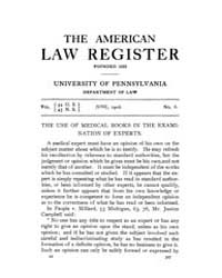The American Law Register (1898-1907) : ... Volume Vol. 54 by