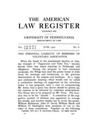 The American Law Register (1898-1907) : ... Volume Vol. 55 by