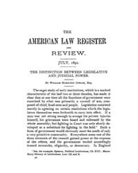 The American Law Register and Review : 1... Volume Vol. 40 by