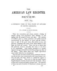 The American Law Register and Review : 1... Volume Vol. 42 by