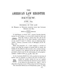 The American Law Register and Review : 1... Volume Vol. 43 by