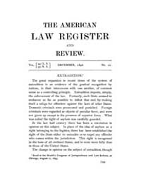 The American Law Register and Review : 1... Volume Vol. 44 by