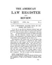 The American Law Register and Review : 1... Volume Vol. 45 by